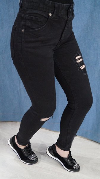 Blugi Skinny Black Jeans Pitch 25
